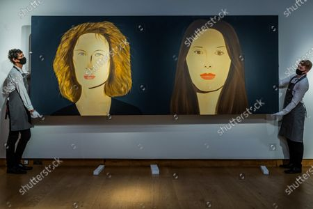 Alex Katz, Bettina and Marina, Painted in 2009, Est £400,000-600,000 - Christie's London preview of Post-War and Contemporary Art Evening Sale London which takes place on 22 October 2020.