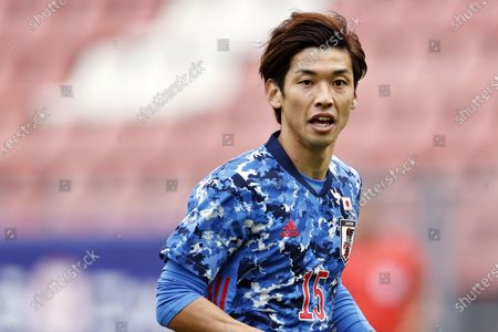 Stock Picture of Yuya Osako of Japan in action during the international friendly soccer match between Japan and Cameroon at Stadion Galgenwaard in Utrecht, The Netherlands, 09 October 2020.