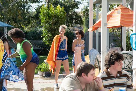 Anna Konkle as Anna Kone, Maya Erskine as Maya Ishii-Peters, Dylan Gage as Gabe and Taj Cross as Sam