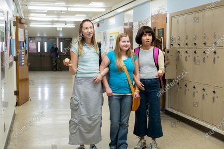 Anna Konkle as Anna Kone, Ashlee Grubbs as Maura and Maya Erskine as Maya Ishii-Peters