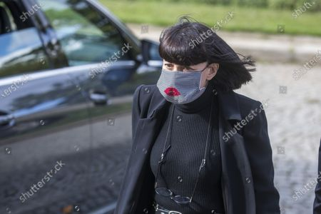 French designer Chantal Thomas arrives to a ceremony for late Japanese fashion designer Kenzo Takada at a funeral chapel of the Pere Lachaise cemetery in Paris, France, 09 October 2020. Takada has died in a hospital in France on 04 October 2020 after suffering from Covid-19. He was 81.