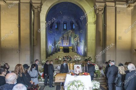 Editorial photo of Funeral ceremony of Kenzo Takada, Paris, France - 09 Oct 2020