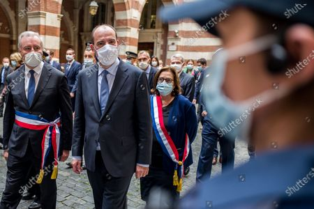 Editorial photo of Jean Castex visits Toulouse, France - 09 Oct 2020