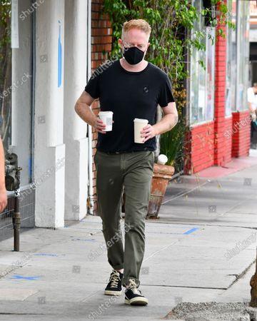 Jesse Tyler Ferguson is seen picking up coffee at Blue Bottle Coffee