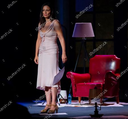Aitana Sanchez-Gijon performs during the poetic recital 'The beauty of the husband' in the framework of the 'Awards Week' of the Princesa de Asturias Foundation in Oviedo, northern Spain, 09 October 2020.
