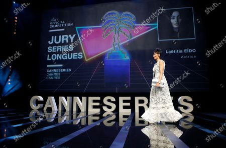 Canneseries jury member French actress Laetitia Eido attends the opening ceremony of the Cannes Series Festival in Cannes, France, 09 October 2020. The event runs from 09 to 14 October.