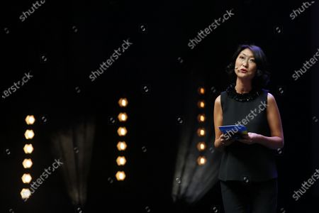 Canneseries president and former French Minister Fleur Pellerin delivers a speech during the opening ceremony of the Cannes Series Festival in Cannes, France, 09 October 2020. The event runs from 09 to 14 October.