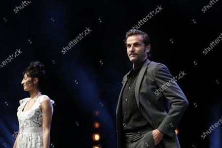 Canneseries jury members French actress Laetitia Eido (L) and French actor Gregory Fitoussi (R) attend the opening ceremony of the Cannes Series Festival in Cannes, France, 09 October 2020. The event runs from 09 to 14 October.