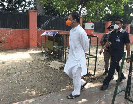 Congress Leader Rahul Gandhi arrives to pay tribute to Union Minister and Lok Janshakti Party (LJP) leader Ramvilas Paswan after his demise on Thursday evening, at his Janpath residence  on October 9, 2020 in New Delhi, India. Paswan, founder of Lok Janshakti Party (LJP) and one of the most noted Dalit leaders of the country, passed away at the age of 74 after undergoing a heart surgery a few days ago. He had been in active politics for more than five decades.