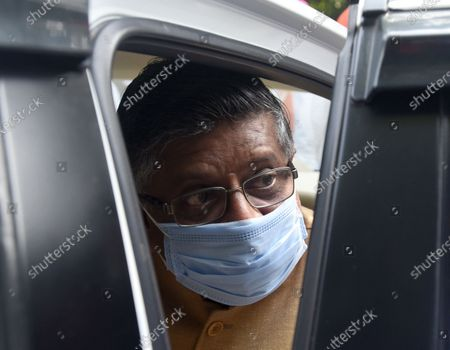 Union Minister of Law and Justice, Electronics and Information Technology and Communications Ravi Shankar Prasad leave after pay tribute to Union Minister and Lok Janshakti Party (LJP) leader Ramvilas Paswan after his demise on Thursday evening, at his Janpath residence  on October 9, 2020 in New Delhi, India. Paswan, founder of Lok Janshakti Party (LJP) and one of the most noted Dalit leaders of the country, passed away at the age of 74 after undergoing a heart surgery a few days ago. He had been in active politics for more than five decades.