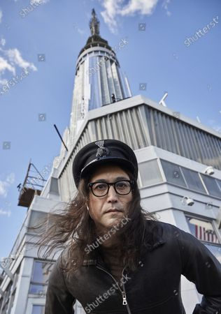 "Stock Photo of Sean Ono Lennon poses for a portrait on the observation deck of the Empire State building, in New York to promote an album being released of his father's best known songs. On Friday, which would have been John Lennon's 80th birthday, ""GIMME SOME TRUTH. THE ULTIMATE MIXES"" will be released. It includes 36 tracks hand-picked by Yoko Ono and Sean Ono Lennon, who serve as executive producer and producer on the project"