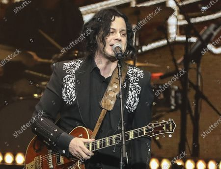 "Jack White performing at Loretta Lynn's 87th Birthday Tribute in Nashville, Tenn. White will be the last-minute replacement musical guest on ""Saturday Night Live"" after country singer Morgan Wallen was dropped for breaking COVID-19 protocols. Lorne Michaels made the announcement Friday on the ""Today"" show"