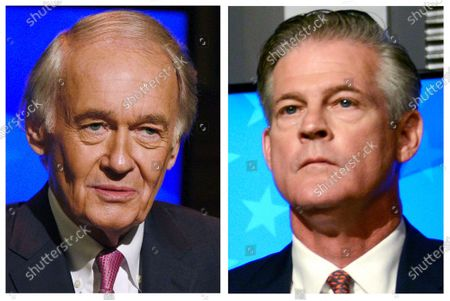 Stock Picture of This, photo combo, shows incumbent U.S. Sen. Edward Markey, D-Mass., left, and Republican challenger Kevin O'Connor, right, who are seeking to represent Massachusetts in the the Senate in the Nov. 3 general election