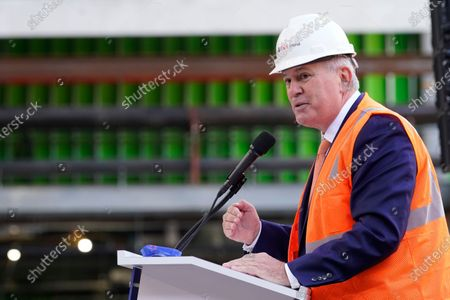 """Oak View Group CEO Tim Leiweke speaks during the """"Topping Off"""" ceremony of the New York Islanders new home, the UBS Arena at Belmont Park in Elmont, N.Y, . The arena is scheduled to open for the 2021-22 season"""