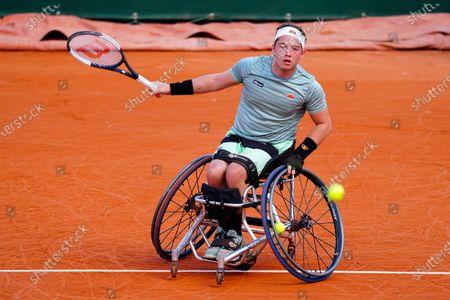 Stock Photo of Alfie Hewett of Great Britain in Men's Wheelchair Final action