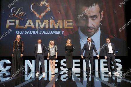 (L-R) Doria Tillier, Youssef Hadji, Camille Chamoux, Celine Sallette, Jonathan Cohen and Jeremie Galan