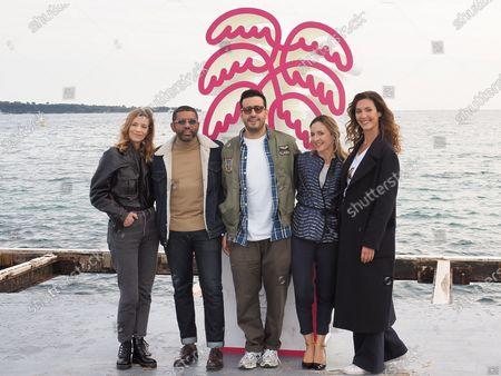 (L-R) Celine Sallette, Yousef Hajdi, Jonathan Cohen, Camille Chamoux and Doria Tillier
