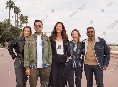 (L-R) Celine Sallette, Jonathan Cohen, Doria Tillier, Camille Chamoux and Youssef Hagji
