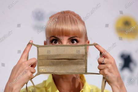 Najwa Nimri, who received the festival's Grand Honorary Award, attends a press conference at the 53rd Sitges International Fantastic Film Festival of Catalonia, in Sitges, Spain, 10 October 2020. The festival runs from 08 October to 18 October 2020.