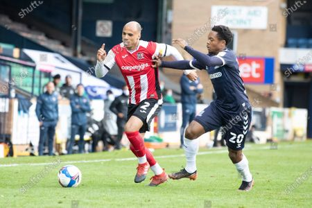 Editorial photo of Southend United vs Exeter City, Sky Bet EFL League 2, Football, Roots Hall, Southend, Essex, United Kingdom - 10 Oct 2020