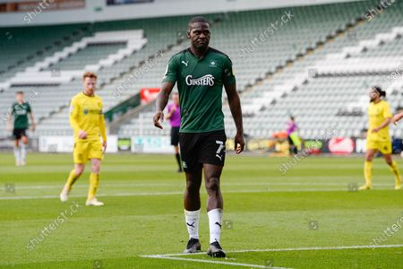Frank Nouble (7) of Plymouth Argyle during the EFL Sky Bet League 1 match between Plymouth Argyle and Burton Albion at Home Park, Plymouth