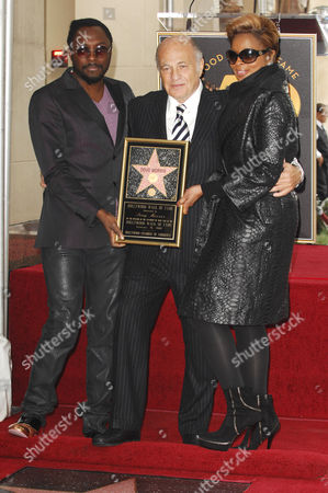 Doug Morris, Will.I.Am and Mary J. Blige