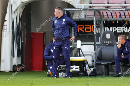 Stock Photo of Peterborough Utd Manager Darren Ferguson during the EFL Sky Bet League 1 match between Northampton Town and Peterborough United at the PTS Academy Stadium, Northampton