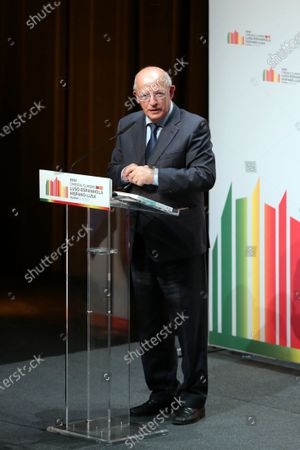 Minister of State for Foreign Affairs, Augusto Santos Silva, speaks during the 31st Portuguese Spanish Summit in Guarda, Portugal, 10 October 2020. Spanish Prime Minister Pedro Sanchez  is on a one day official visit to Guarda for the 31st Spanish-Portuguese Summit.
