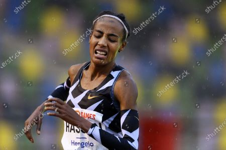 Editorial picture of Hassan improves European record at 10,000 meters, Hengelo, Netherlands - 10 Oct 2020