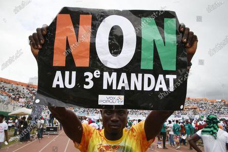 Editorial image of Opposition meeting at Felix Houphouet-Boigny stadium in Abidjan, Ivory Coast - 10 Oct 2020