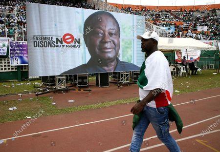 Editorial photo of Opposition meeting at Felix Houphouet-Boigny stadium in Abidjan, Ivory Coast - 10 Oct 2020