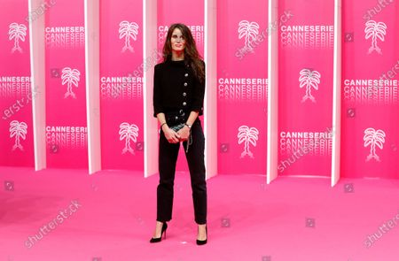 Marine Vacth poses on the pink carpet during the Cannes Series Festival in Cannes, France, 10 October 2020. The event runs from 09 to 14 October.