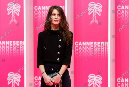 Stock Photo of Marine Vacth poses on the pink carpet during the Cannes Series Festival in Cannes, France, 10 October 2020. The event runs from 09 to 14 October.
