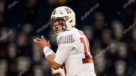 Stock Photo of Temple quarterback Anthony Russo throws against Navy during an NCAA football game, in Annapolis, Md