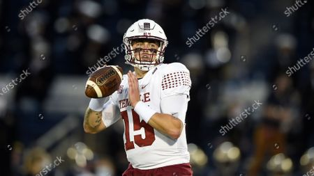 Temple quarterback Anthony Russo throws against Navy during an NCAA football game, in Annapolis, Md