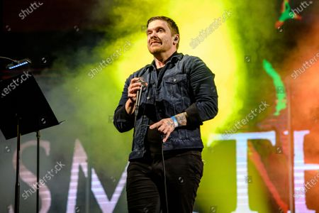 Brent Smith of Smith & Myers performs at a drive-in concert on at The Drive-In at Westland Mall in Columbus, Ohio