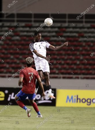 Stock Picture of Johan Venegas (L) of Costa Rica national team vies for the ball against Abdiel Ayarza (R) of Panama national team during a friendly match between the teams of Costa Rica and Panama in San Jose, Costa Rica, 10 October 2020.
