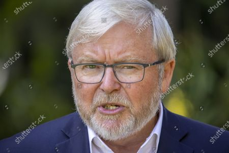 Editorial image of Former Australian prime minister Kevin Rudd calls for  royal commission into Rupert Murdoch's media empire, Brisbane, Australia - 11 Oct 2020