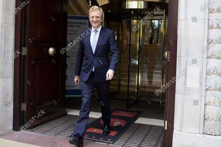 Secretary of State for Culture, Media and Sport Oliver Dowden departs television studios near Parliament after appearing on Kay Burley at Breakfast .Later today Prime Minster Boris Johnson is expected make a statement in The House of Commons .