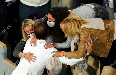 Stock Picture of Rafael Nadal is congratulated by his mother, Ana María Parera, after victory in the Men's Singles final