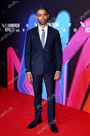 Kingsley Ben-Adir attending a screening of One Night in Miami as part of the BFI London Film Festival, BFI Southbank, London.