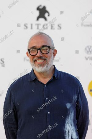 Stock Image of Alex de la Iglesia poses during the presentation of the HBO series '30 Monedas' at the 53rd Sitges International Fantastic Film Festival of Catalonia, in Sitges, Spain, 11 October 2020. The festival runs from 08 October to 18 October 2020.