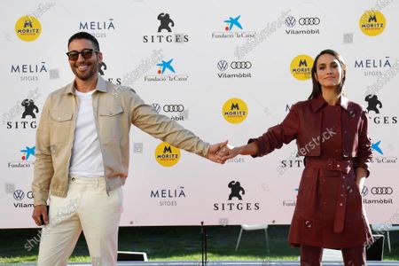 Megan Montaner (R) and actor Miguel Angel Silvestre (L) pose during the presentation of the HBO series '30 Monedas' at the 53rd Sitges International Fantastic Film Festival of Catalonia, in Sitges, Spain, 11 October 2020. The festival runs from 08 October to 18 October 2020.