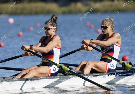 Stock Photo of Lightweight womens double sculls. Rocio Lao Sanchez and Natalia Miguel Gomez of Spain during European Rowing Championships 2020 in Poznan, Poland.