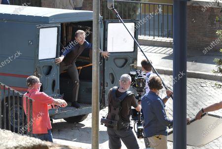 "Rome, film set ""Mission impossible 7"". Pictured: Simon Pegg"