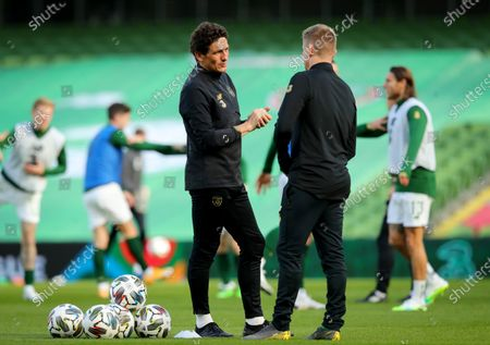 Republic of Ireland vs Wales. Ireland Assistant Coaches Keith Andrews and Damien Duff