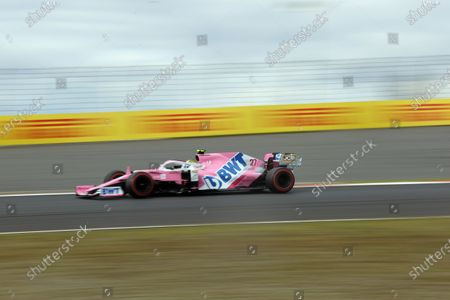 German Formula One driver Nico Huelkenberg of Racing Point in action during the Formula One Eifel Grand Prix at the Nuerburgring race track in Nuerburg, Germany, 11 October 2020.