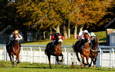 NATURAL HISTORY (centre, Oisin Murphy) beats GOSHEN (2nd right) SPEED COMPANY (right) and HYANNA (left) in The Join tote.co.uk Handicap Goodwood