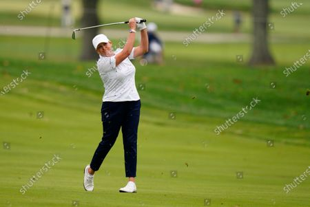 Cristie Kerr hits from the 15th fairway during the final round at the KPMG Women's PGA Championship golf tournament at the Aronimink Golf Club, in Newtown Square, Pa