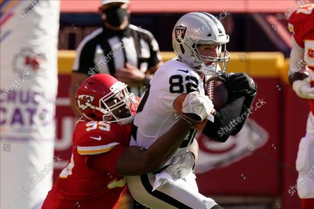 Editorial picture of Raiders Chiefs Football, Kansas City, United States - 11 Oct 2020